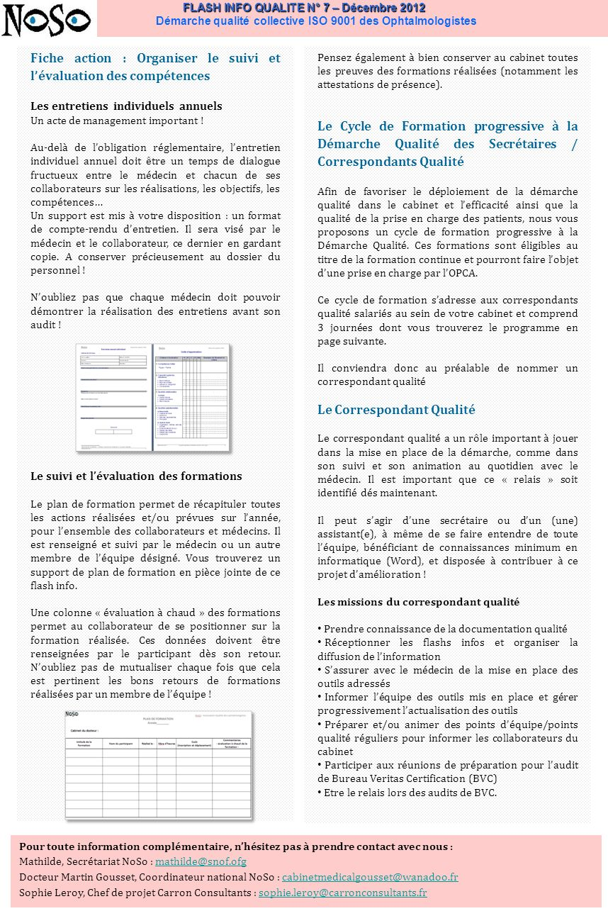Fiche action : Organiser le suivi et l'évaluation des compétences