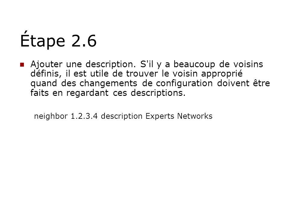 Étape 2.6