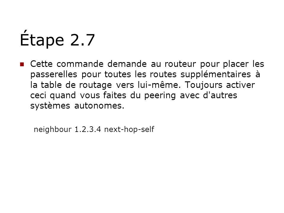 Étape 2.7