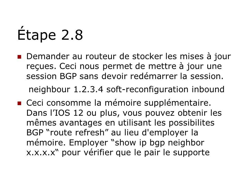 Étape 2.8