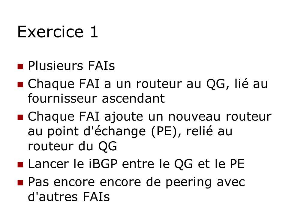 Exercice 1 Plusieurs FAIs
