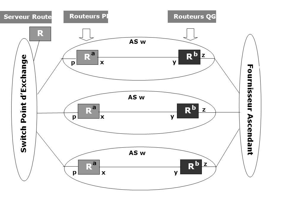 R Switch Point d'Exchange Fournisseur Ascendant Routeurs PE
