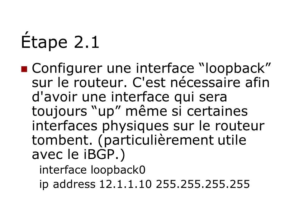 Étape 2.1