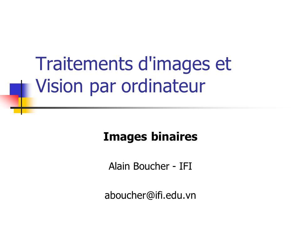 Traitements d images et Vision par ordinateur