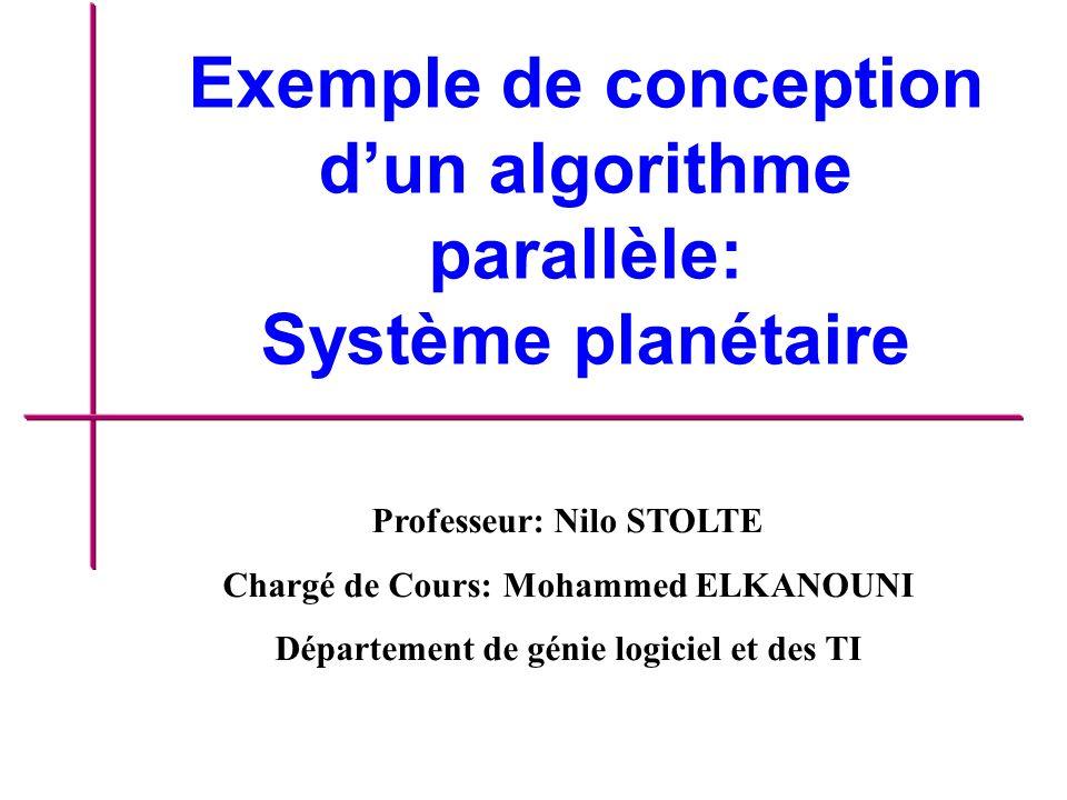 Exemple de conception d'un algorithme parallèle: Système planétaire