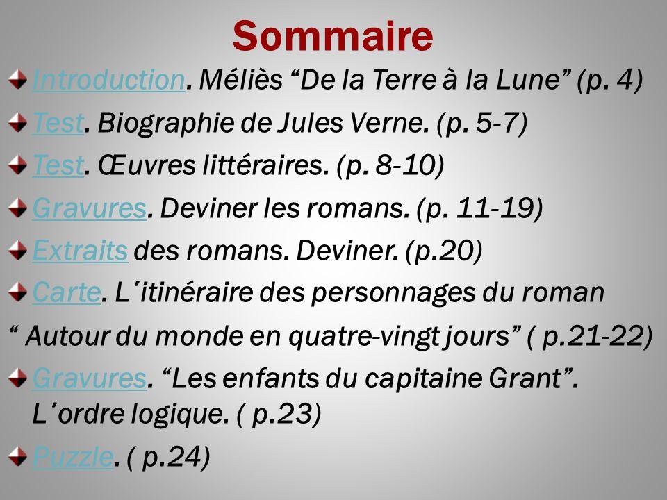 Sommaire Introduction. Méliès De la Terre à la Lune (p. 4)