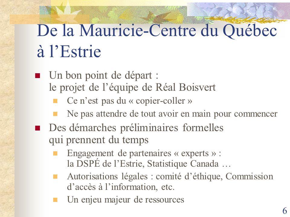 De la Mauricie-Centre du Québec à l'Estrie