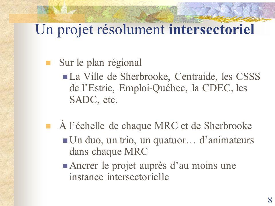 Un projet résolument intersectoriel