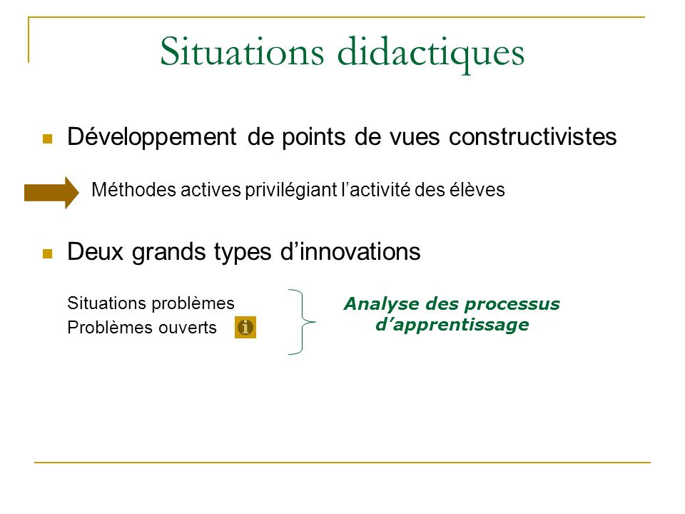 Situations didactiques