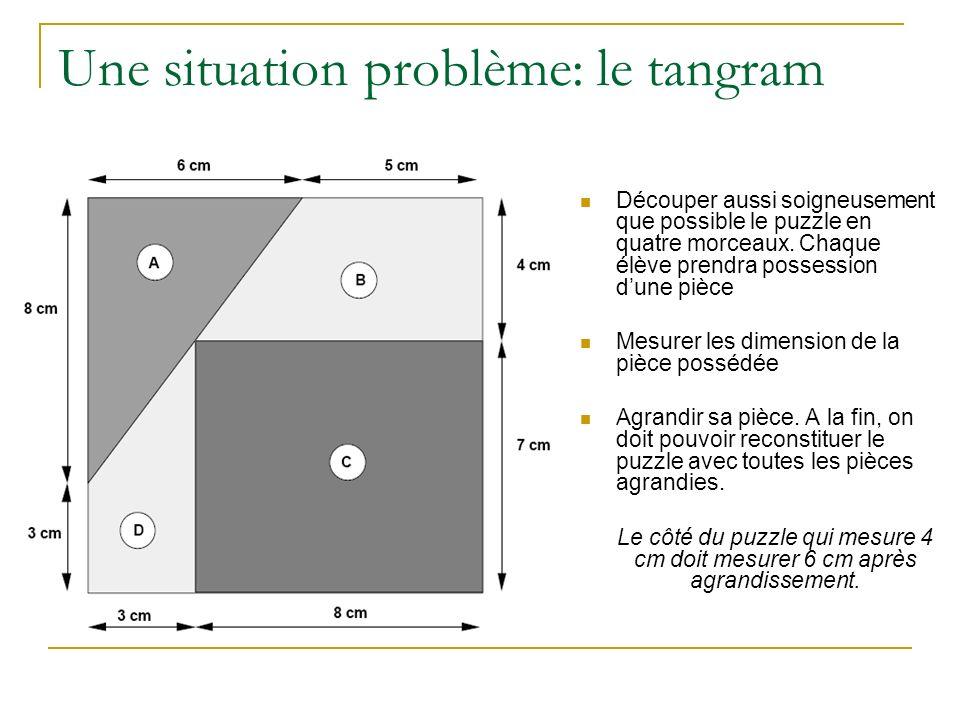 Une situation problème: le tangram