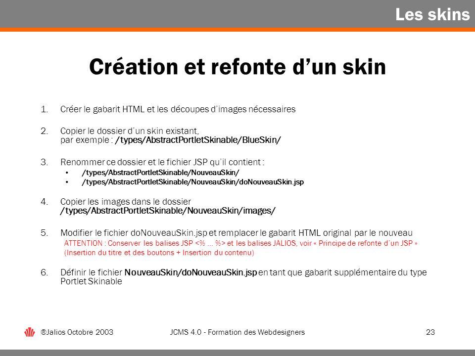 Création et refonte d'un skin