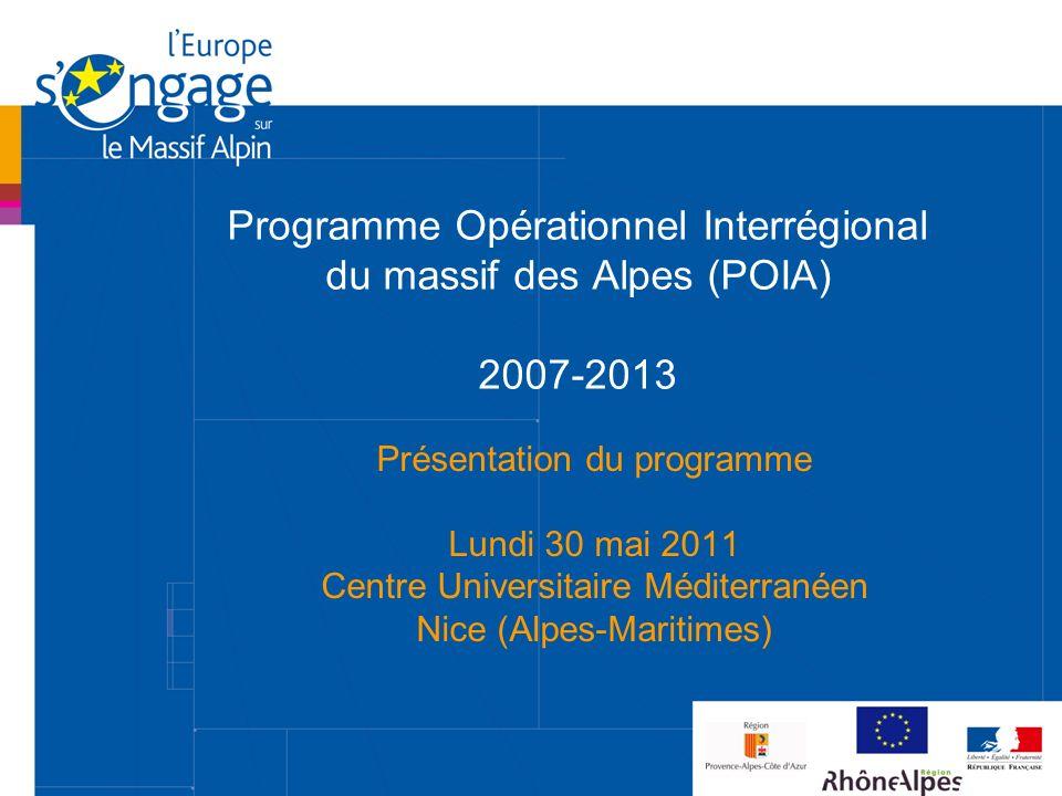 Programme Opérationnel Interrégional du massif des Alpes (POIA) 2007-2013