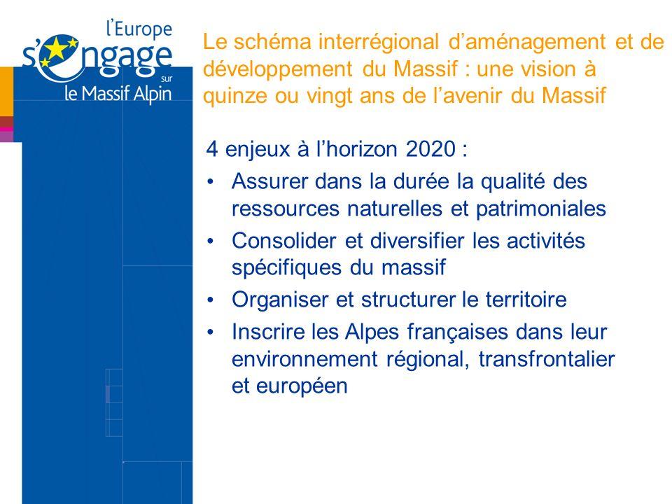 Le schéma interrégional d'aménagement et de développement du Massif : une vision à quinze ou vingt ans de l'avenir du Massif
