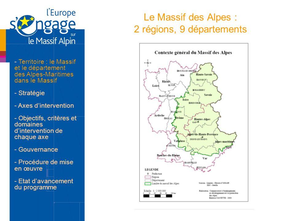 Le Massif des Alpes : 2 régions, 9 départements
