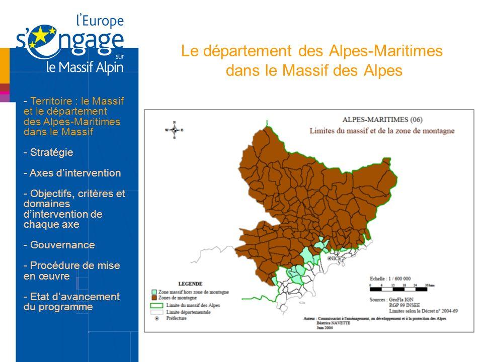 Le département des Alpes-Maritimes dans le Massif des Alpes