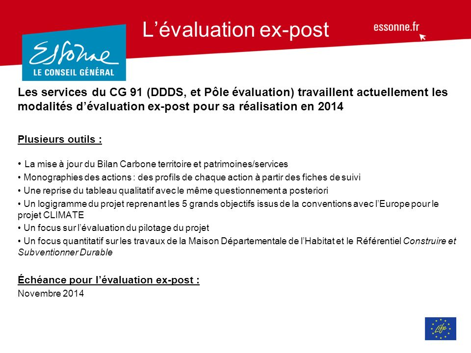 L'évaluation ex-post