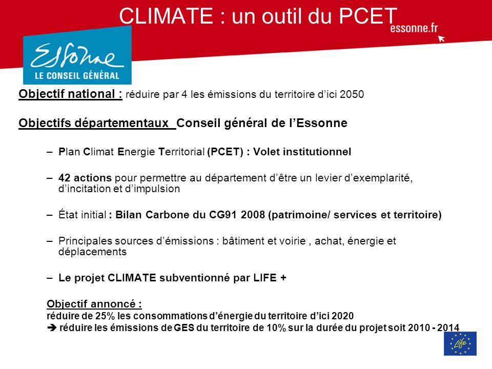 CLIMATE : un outil du PCET