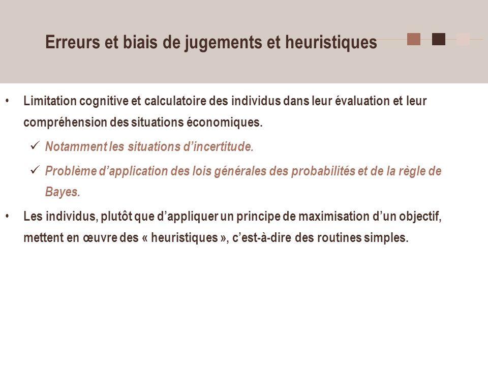 Erreurs et biais de jugements et heuristiques