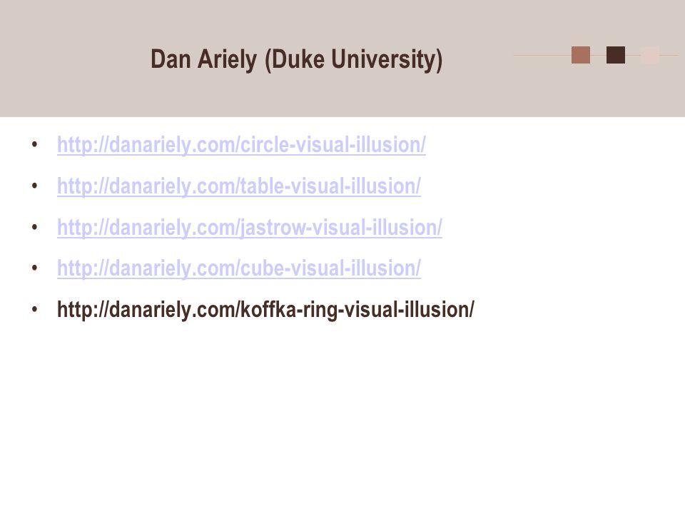 Dan Ariely (Duke University)