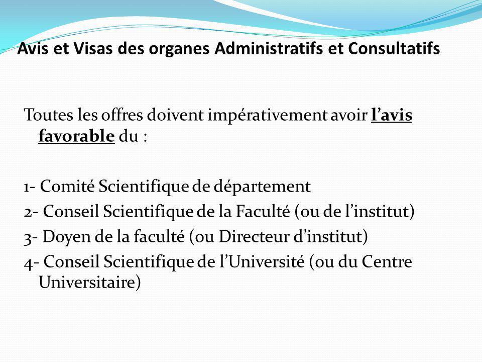 Avis et Visas des organes Administratifs et Consultatifs