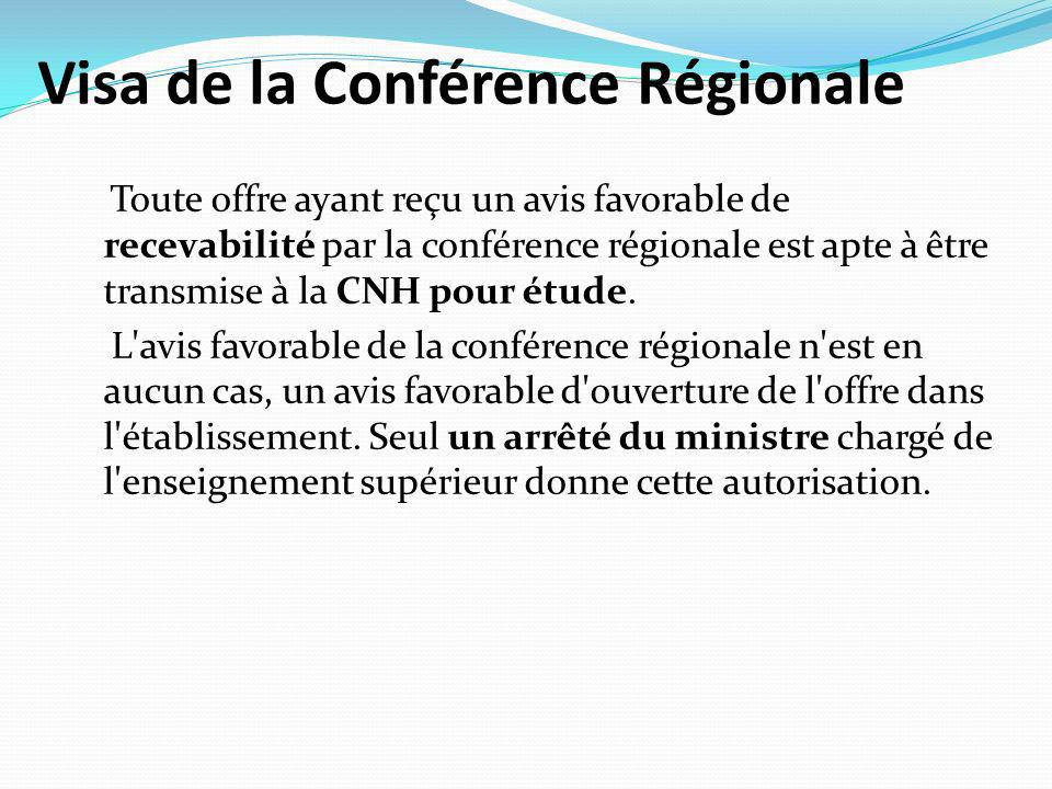 Visa de la Conférence Régionale