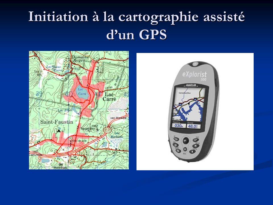 Initiation à la cartographie assisté d'un GPS