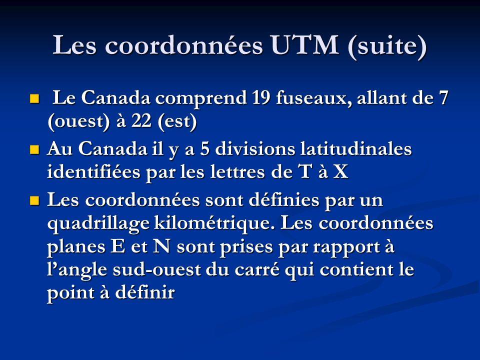 Les coordonnées UTM (suite)