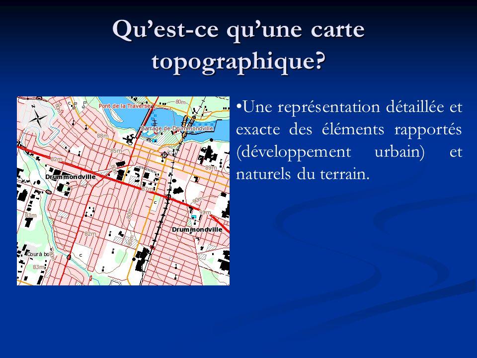 Qu'est-ce qu'une carte topographique