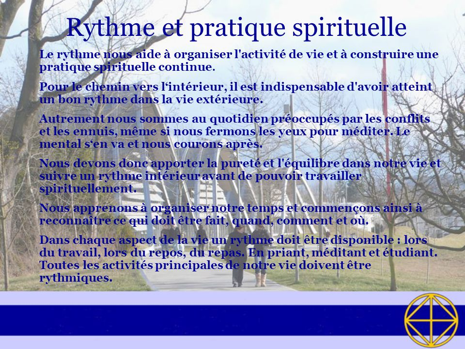 Rythme et pratique spirituelle