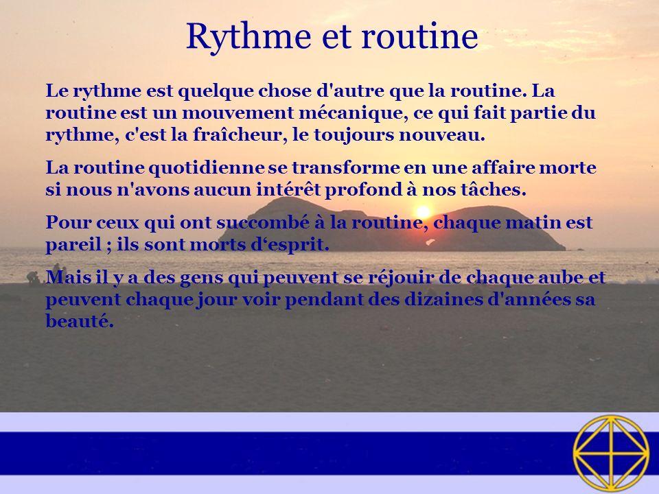 Rythme et routine