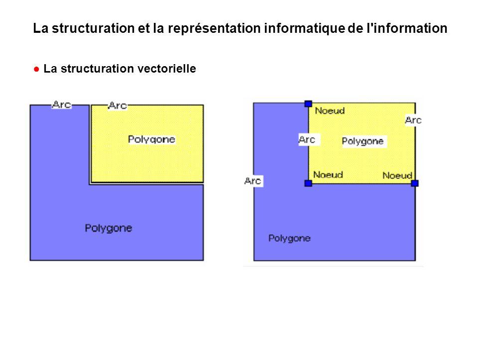 La structuration et la représentation informatique de l information