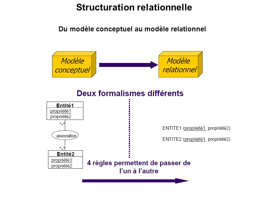 Structuration relationnelle