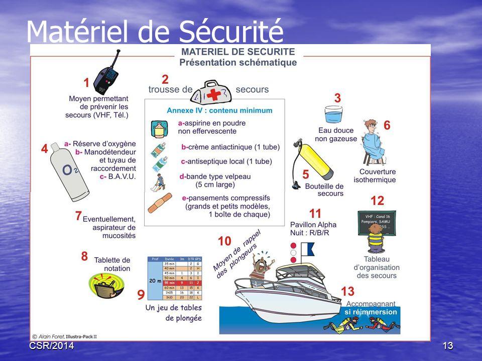 Matériel de Sécurité CSR/2014