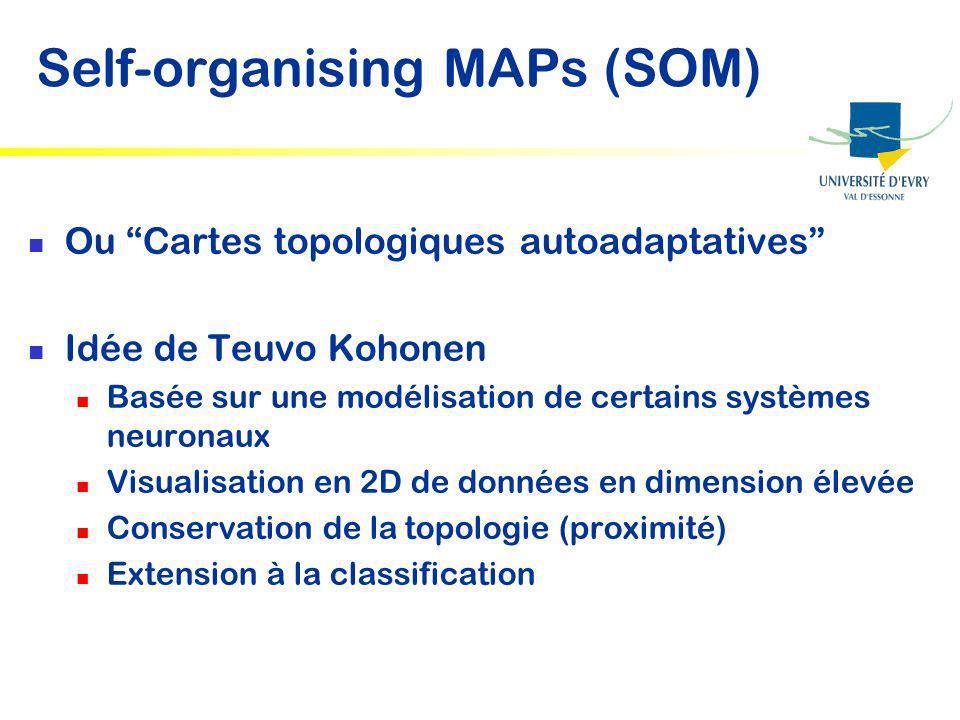 Self-organising MAPs (SOM)