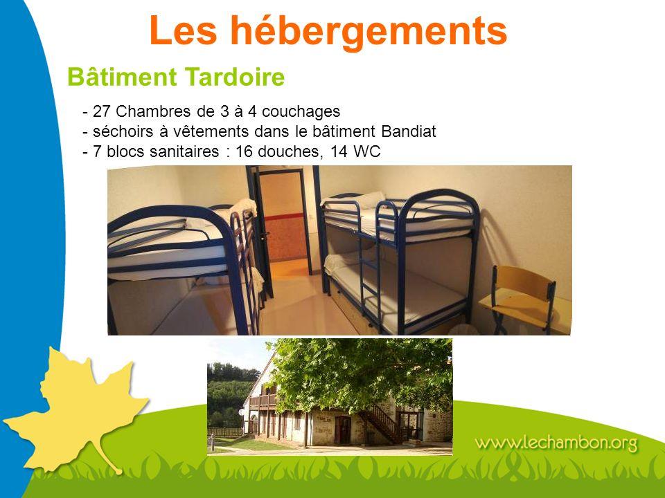 Les hébergements Bâtiment Tardoire - 27 Chambres de 3 à 4 couchages