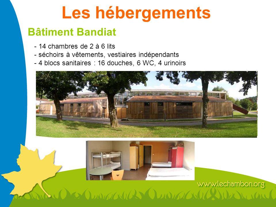 Les hébergements Bâtiment Bandiat - 14 chambres de 2 à 6 lits