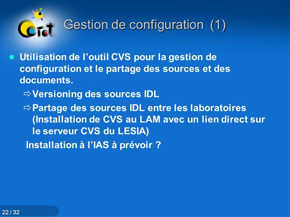 Gestion de configuration (1)