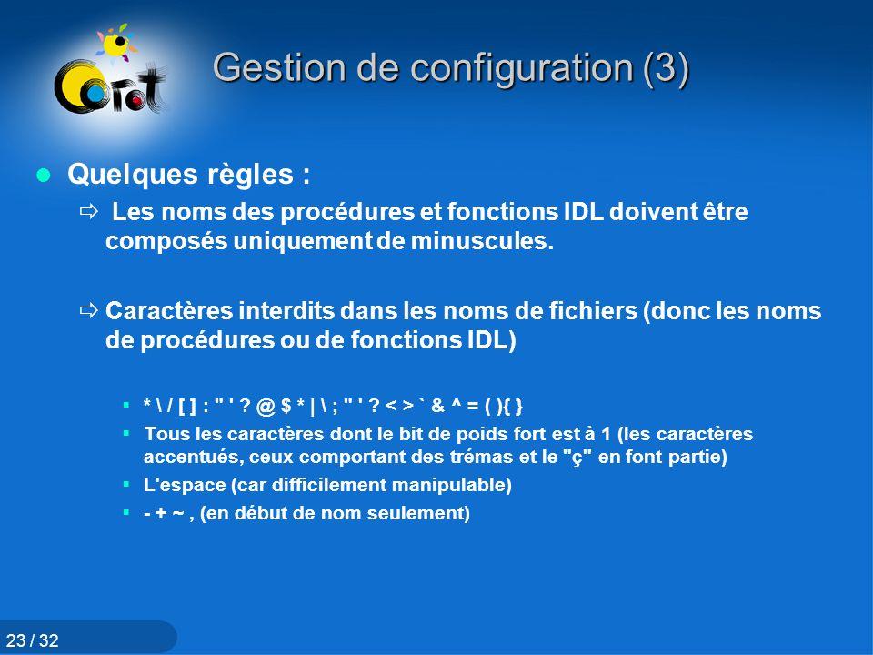 Gestion de configuration (3)