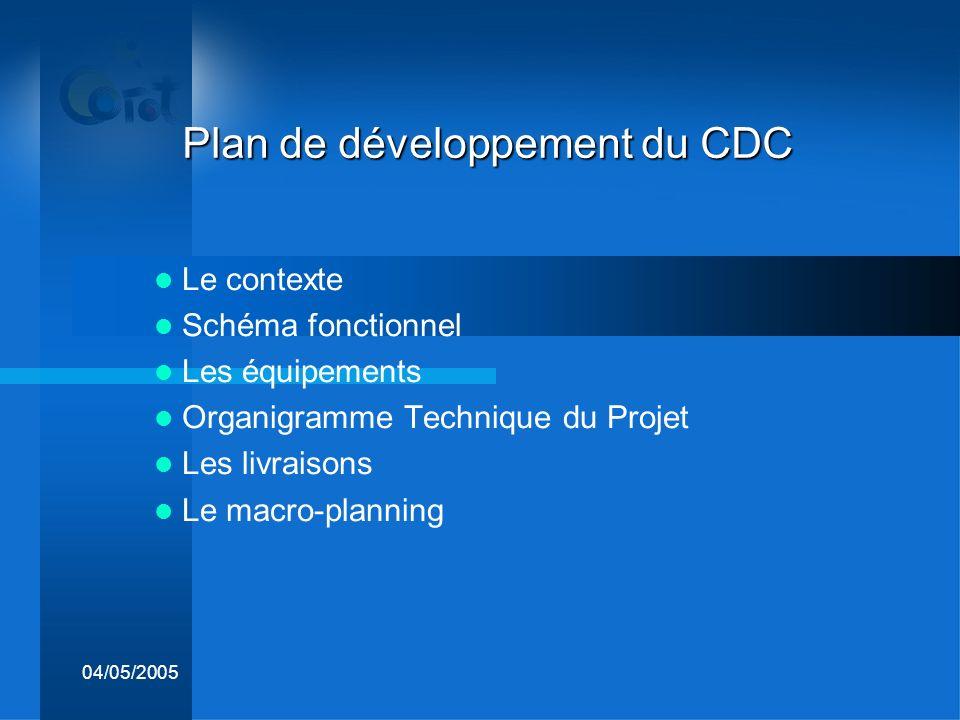 Plan de développement du CDC