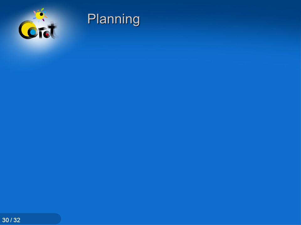 Planning 30 / 32