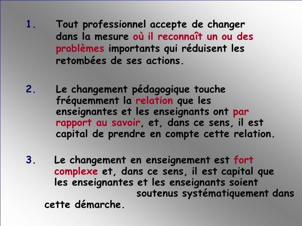 1. Tout professionnel accepte de changer