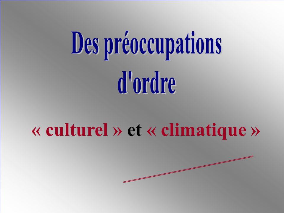 « culturel » et « climatique »