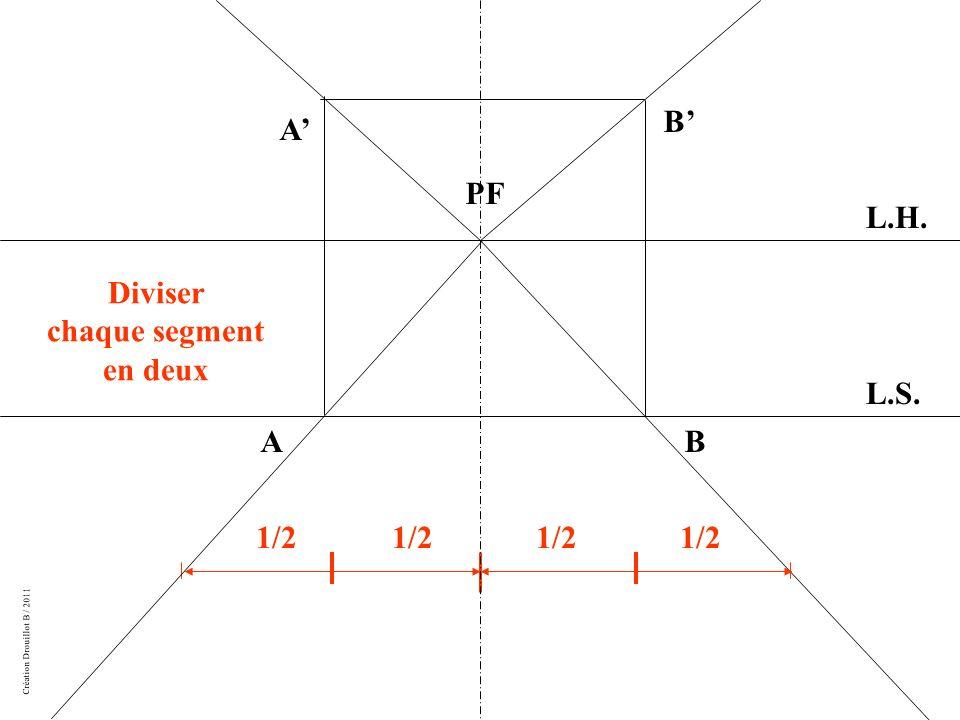 Diviser chaque segment en deux