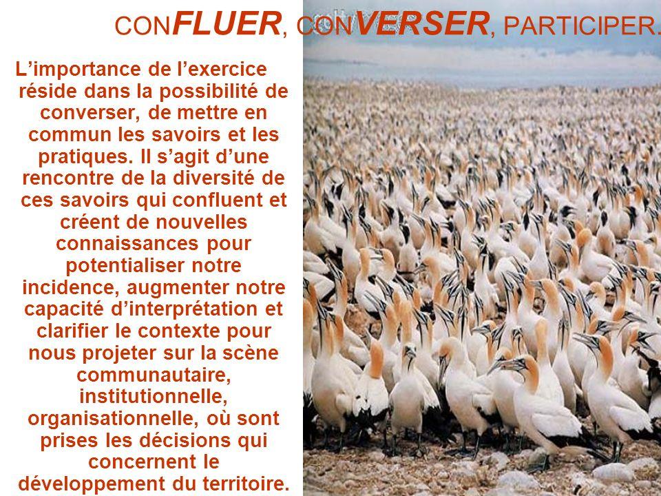 CONFLUER, CONVERSER, PARTICIPER.
