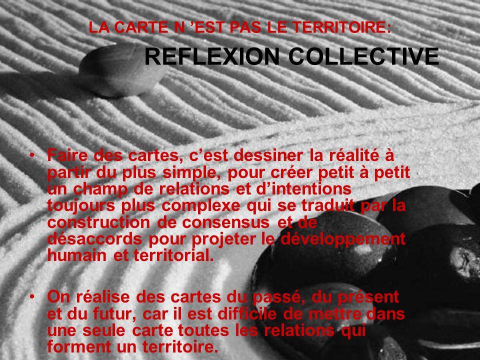LA CARTE N 'EST PAS LE TERRITOIRE: REFLEXION COLLECTIVE