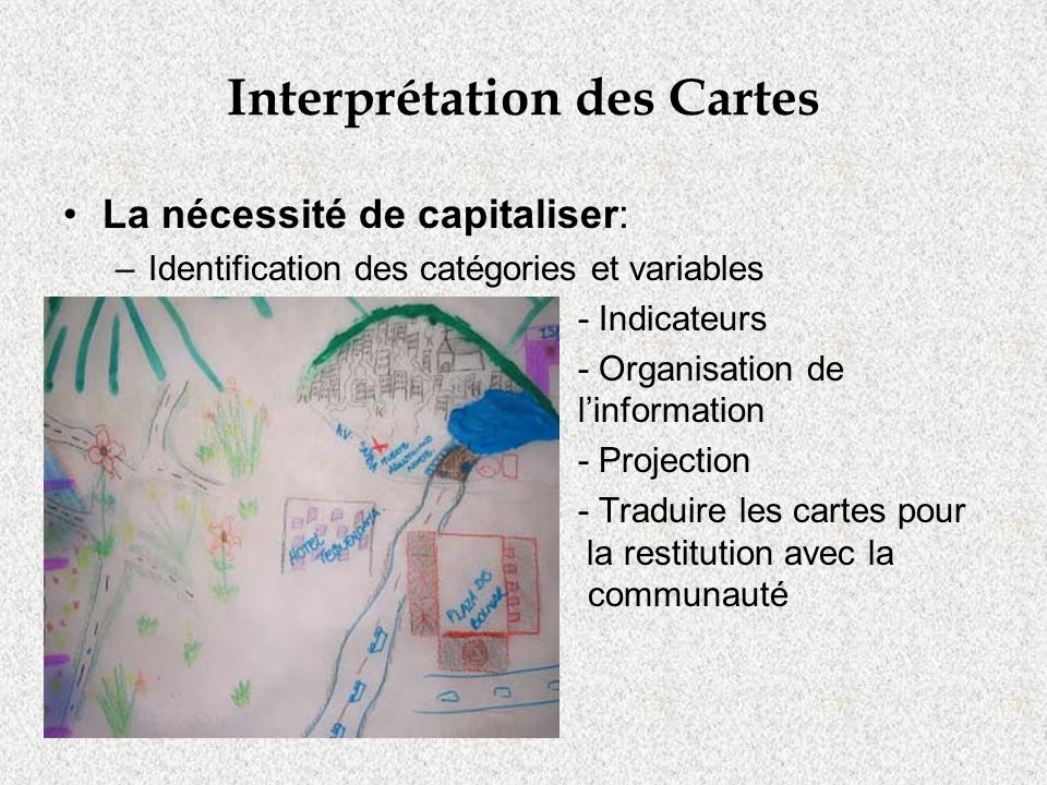 Interprétation des Cartes