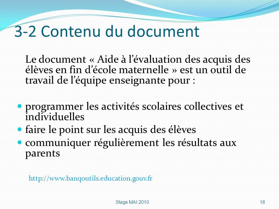 3-2 Contenu du document
