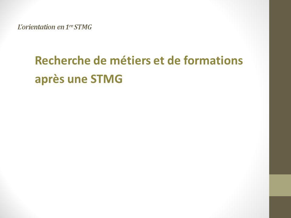L'orientation en 1re STMG