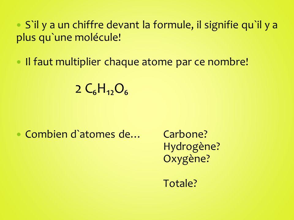 S`il y a un chiffre devant la formule, il signifie qu`il y a plus qu`une molécule!