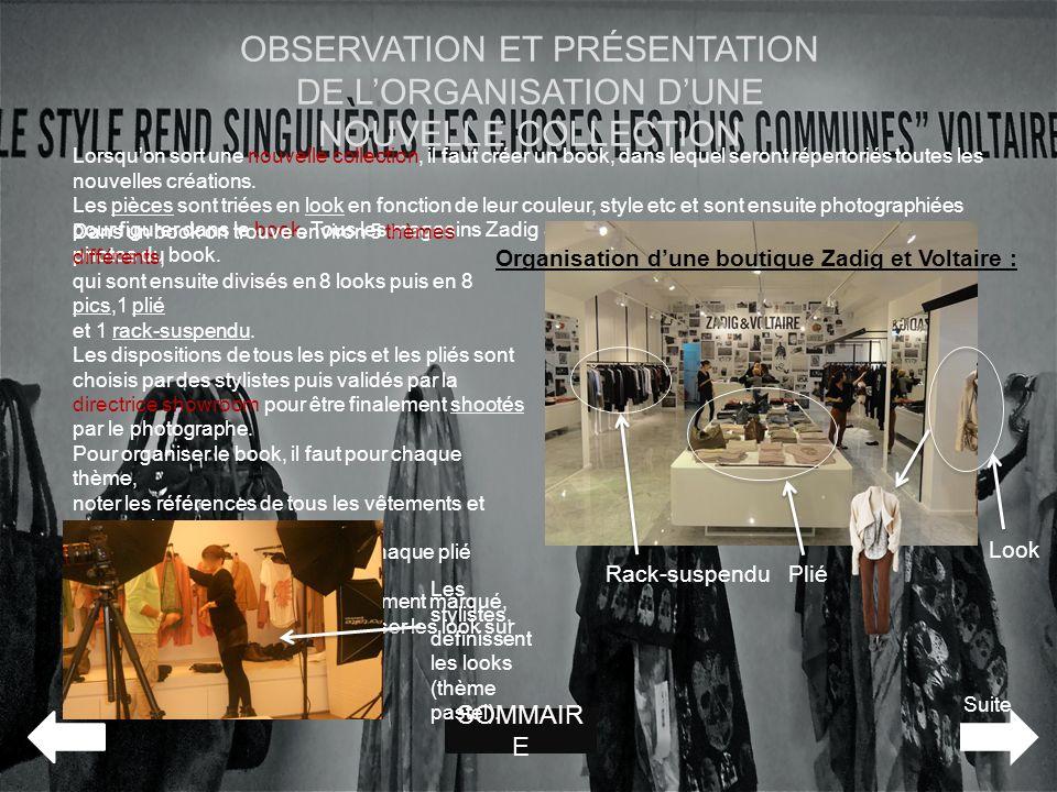 Organisation d'une boutique Zadig et Voltaire :